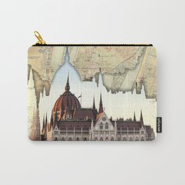 Budapest Globe Map Carry-All Pouch