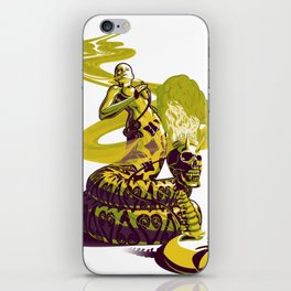 SnakeWoman and Demon-Skull Bong iPhone Skin