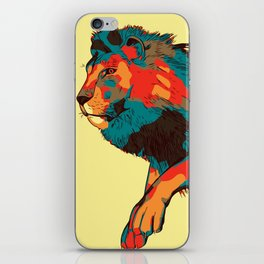 Jumping Lion Abstract iPhone Skin