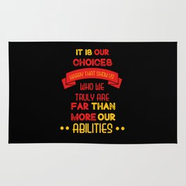 Harry Potter Quote Rug