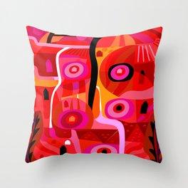 Zacatecas (Red) Throw Pillow