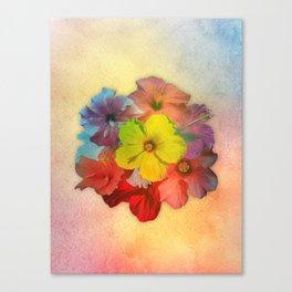 Colorful Hibiscus Bouquet Canvas Print
