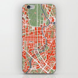 Berlin city map classic iPhone Skin