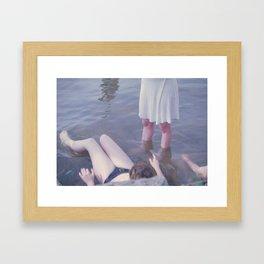 Sophie, Evie, and Maya, Loch Raven 2014 Framed Art Print