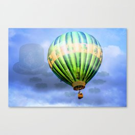 Floating through clouds of shamrocks Canvas Print