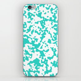 Spots - White and Turquoise iPhone Skin