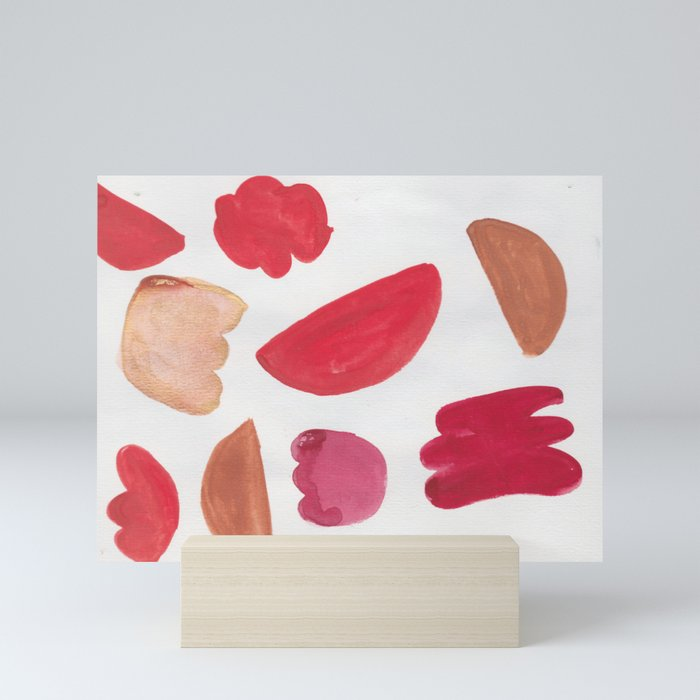 38    | 190408 Red Abstract Watercolour Mini Art Print
