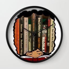 Lost in the Pages Wall Clock