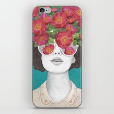 The optimist // rose tinted glasses iPhone & iPod Skin