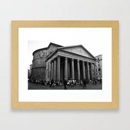 the pantheon b&w Framed Art Print