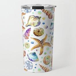 Starfish shell carnival Travel Mug