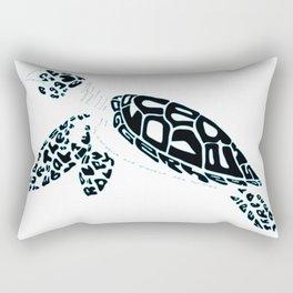 Calligram Sea Turtle Rectangular Pillow