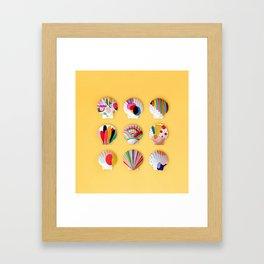 Rainbow Print Shells Framed Art Print