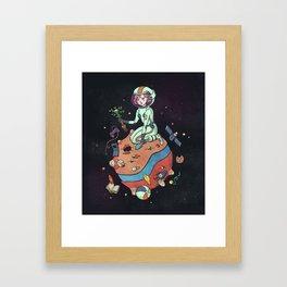 Planet nostalgia Framed Art Print