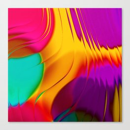 Abstract Color Parade Canvas Print