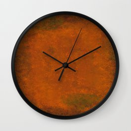 Weathered Copper Texture Wall Clock