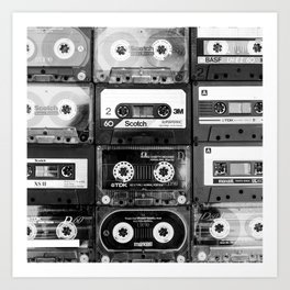 Something Nostalgic - black and white #decor #buyart #society6 Art Print