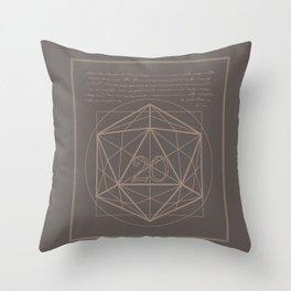 D20-Critical Hit Throw Pillow