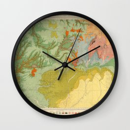 Vintage Southwest Map Wall Clock