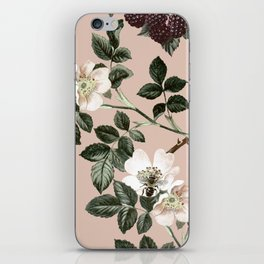 Bee Blackberry Bramble Coral Pink iPhone Skin
