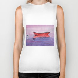 Red Dory Reflections Biker Tank