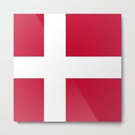 Flag: Denmark Metal Print