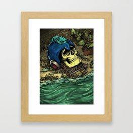 Megaman - Dead Heroes Framed Art Print