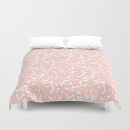 Pink and White Composition Notebook Duvet Cover