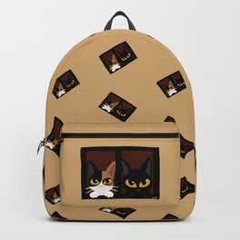 Lovely two cats Backpack