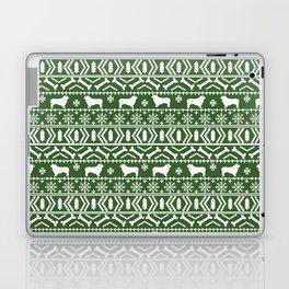 Australian Shepherd dog breed fair isle christmas sweater gifts cute dog patterns Laptop & iPad Skin
