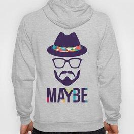 Maybe - mod. Brand t-shirt uomo-donna Hoody