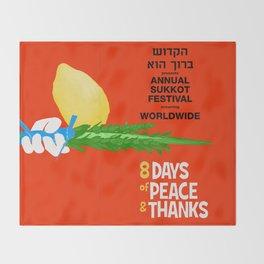 Sukkot Poster Throw Blanket