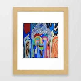 Weeping Buddha Color Framed Art Print