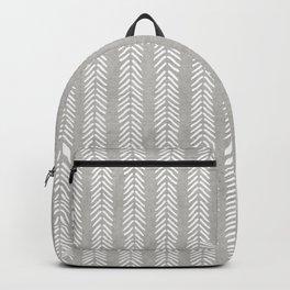 Mud cloth - Grey Arrowheads Backpack