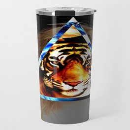 Girl behind the Tiger Travel Mug