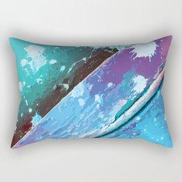 Texture 10. Neon Blue Rectangular Pillow