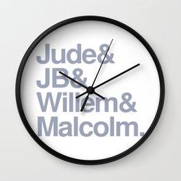 Jude & JB & Willem & Malcolm. Wall Clock