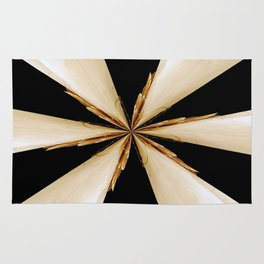 Black, White and Gold Star Rug