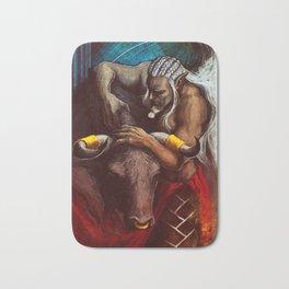 Sten Arishok Taurus Zodiac Tarot card Bath Mat