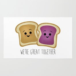 We're Great Together - Peanut Butter & Jelly Rug