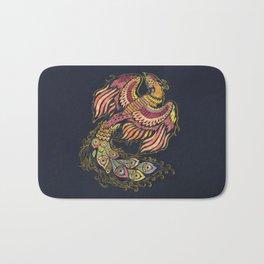 Watercolor Phoenix bird Bath Mat