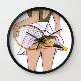 Sexy tennis Wall Clock