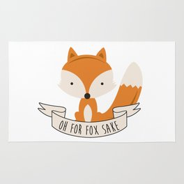 Oh for fox sake Rug