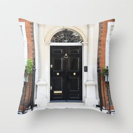 Westminster door 3 Throw Pillow