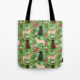 Labrador retrievers christmas festive holiday gifts for dog lover in your life dog breeds custom art Tote Bag