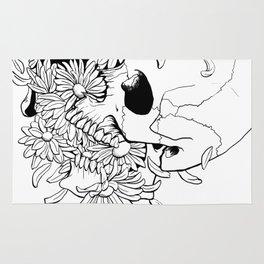 Skull #9 (Pushing Up Daisies) Rug