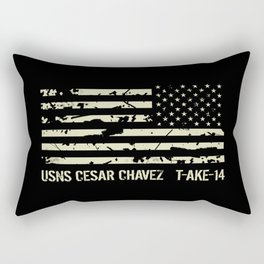 USNS Cesar Chavez Rectangular Pillow