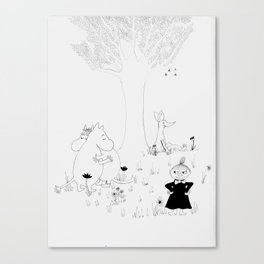 Moomin Love Canvas Print