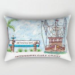 Mississippi Gulf Coast Rectangular Pillow