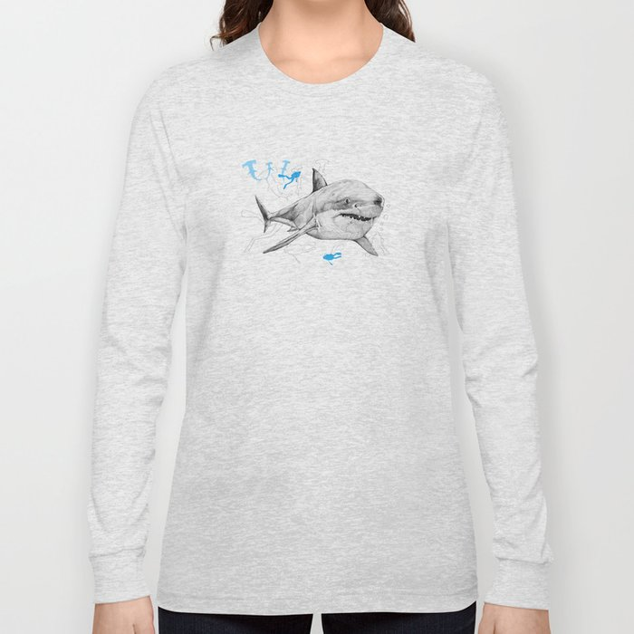 'Sharks & Silhouettes' Long Sleeve T-shirt